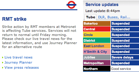 london tube workers strike