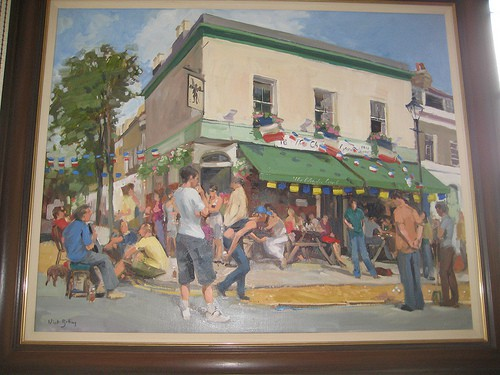 oil painting from Charles Lamb Bastille day andy roberts