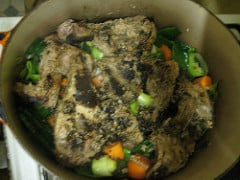 Rabbit transferred to cooking pot