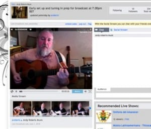 Andy Roberts Music on USTREAM
