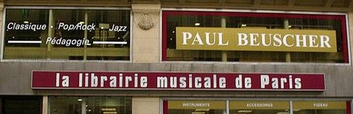 Paul Beuscher la librairie musicale de Paris