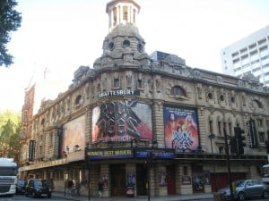 Shaftesbury Theatre with Rock of Ages